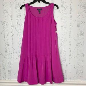Ralph Lauren Piano Pleats Midi Sleeveless Dress